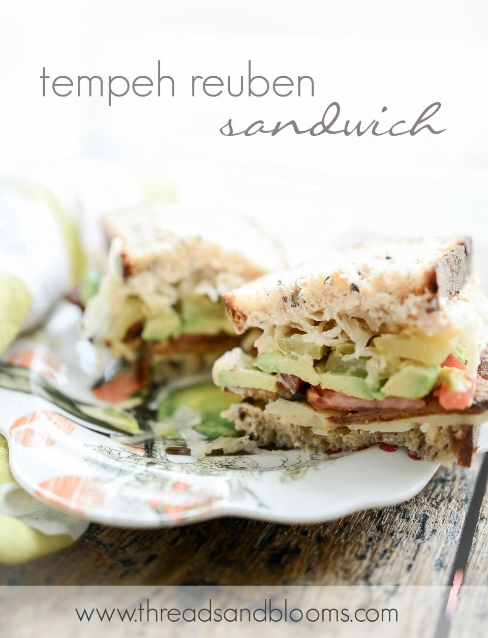 Vegetarian Sandwich Recipe - Tempeh Reuben Sandwich