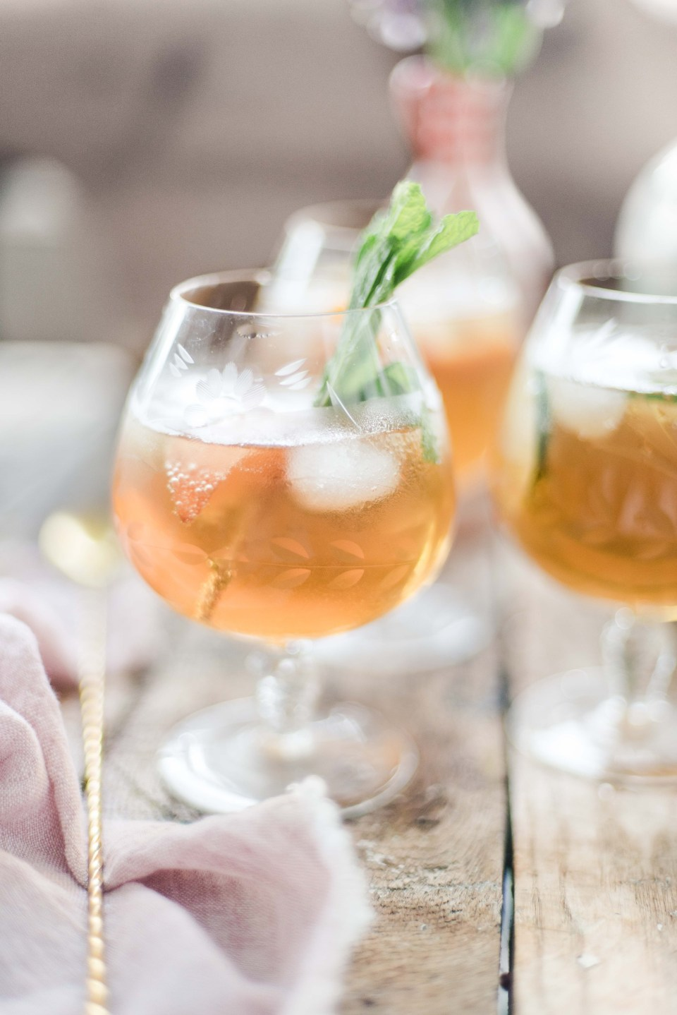 Sparkling Iced Tea in 3 Flavours - Homemade Iced Tea