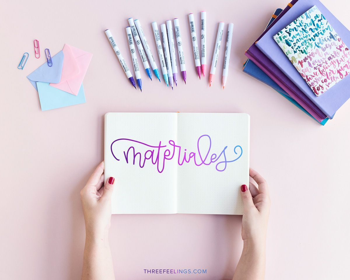 Letras Bonitas Para Decorar Crea Una Página De Lettering Degradado De Color En Tu Bullet Journal