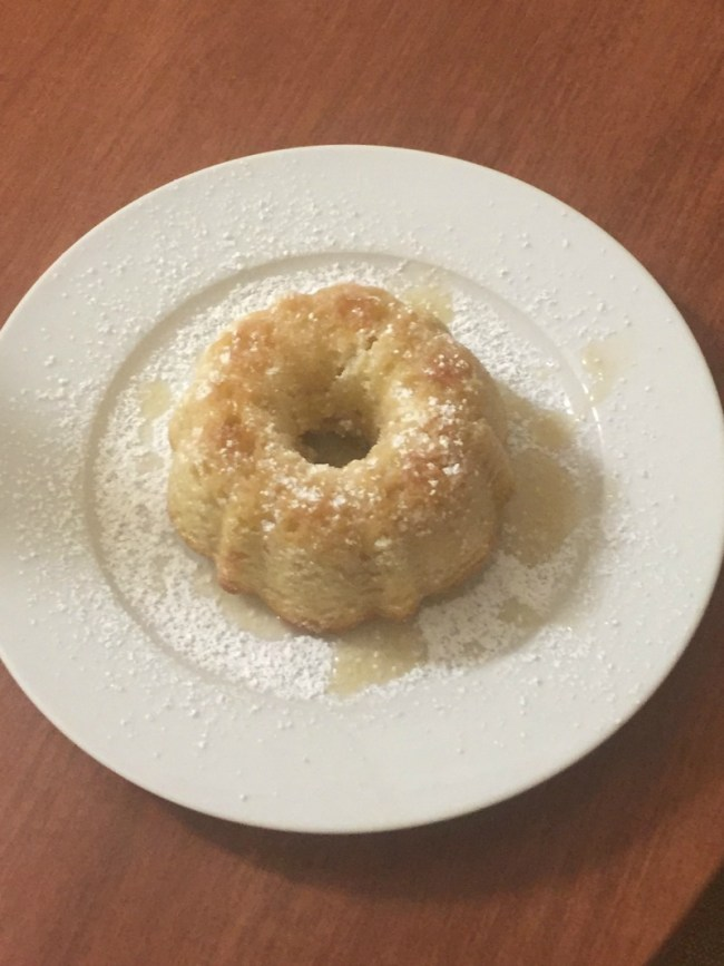 butter cake with sugar and glaze
