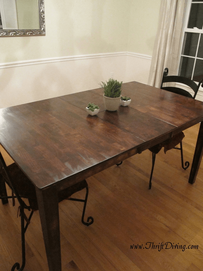 colossal diy failor rustic chic rustic kitchen table Or Rustic Dining Room Table Makeover Thrift Diving Blog