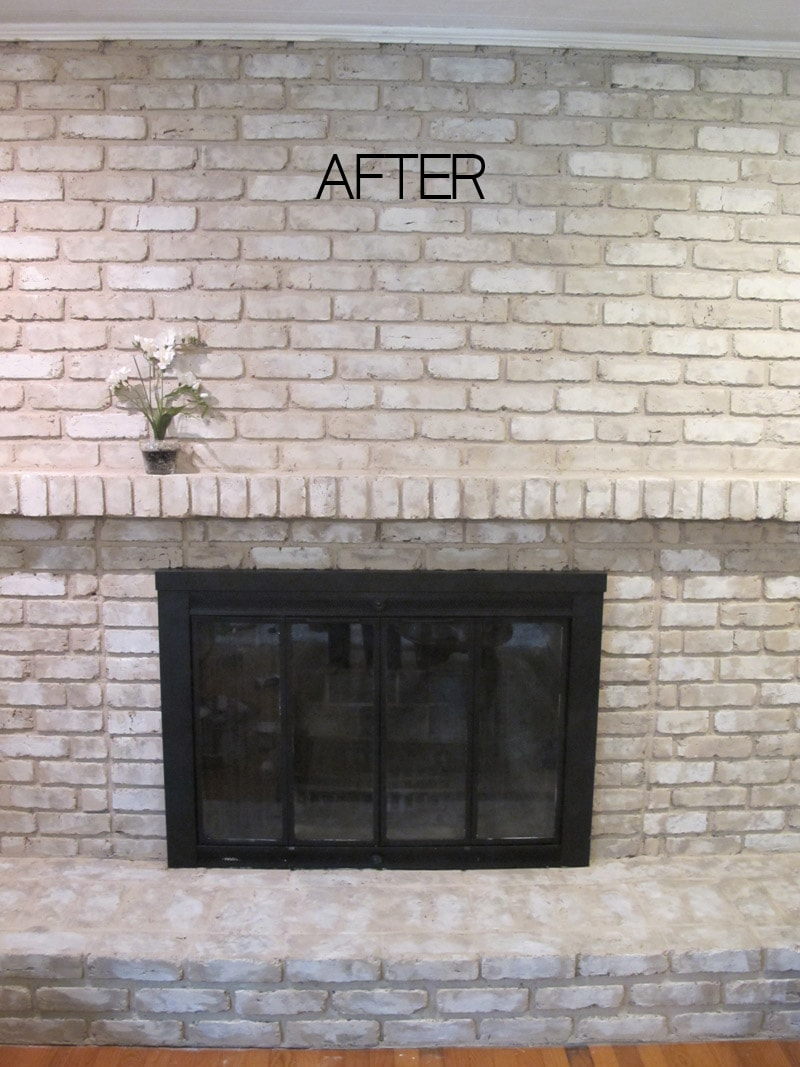 Update Old Brick Fireplace Tutorial How To Paint A Brick Fireplace With Brick Anew
