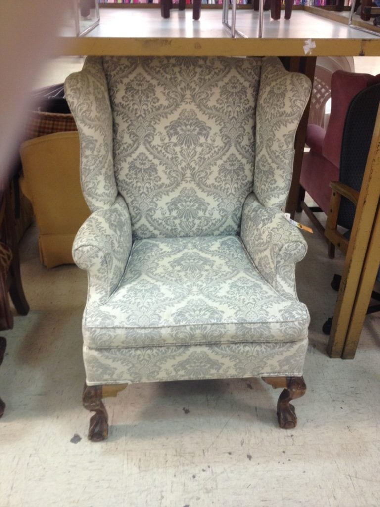 Vintage wingback chair 5 thriftdiving