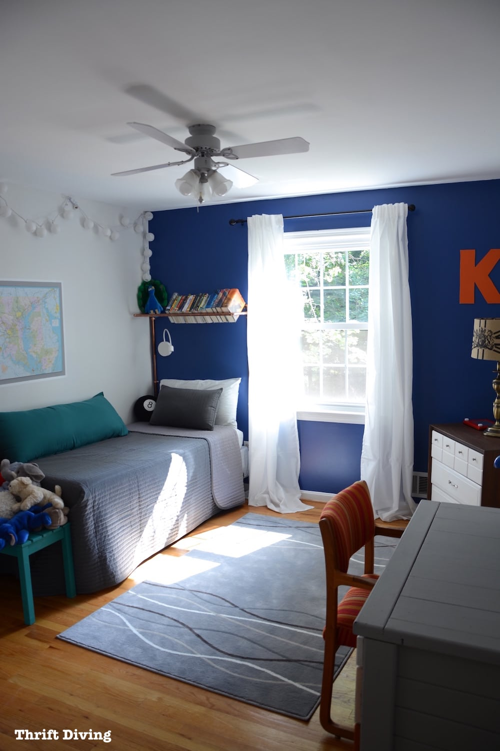 Curtains For A Blue Room Before After Tween Boys Bedroom Makeover Reveal
