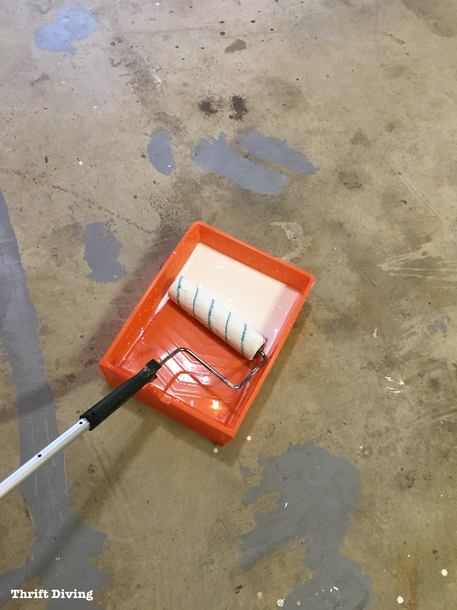 Garage Floor Epoxy Primer How To Paint Garage Floors With 1 Part Epoxy Paint