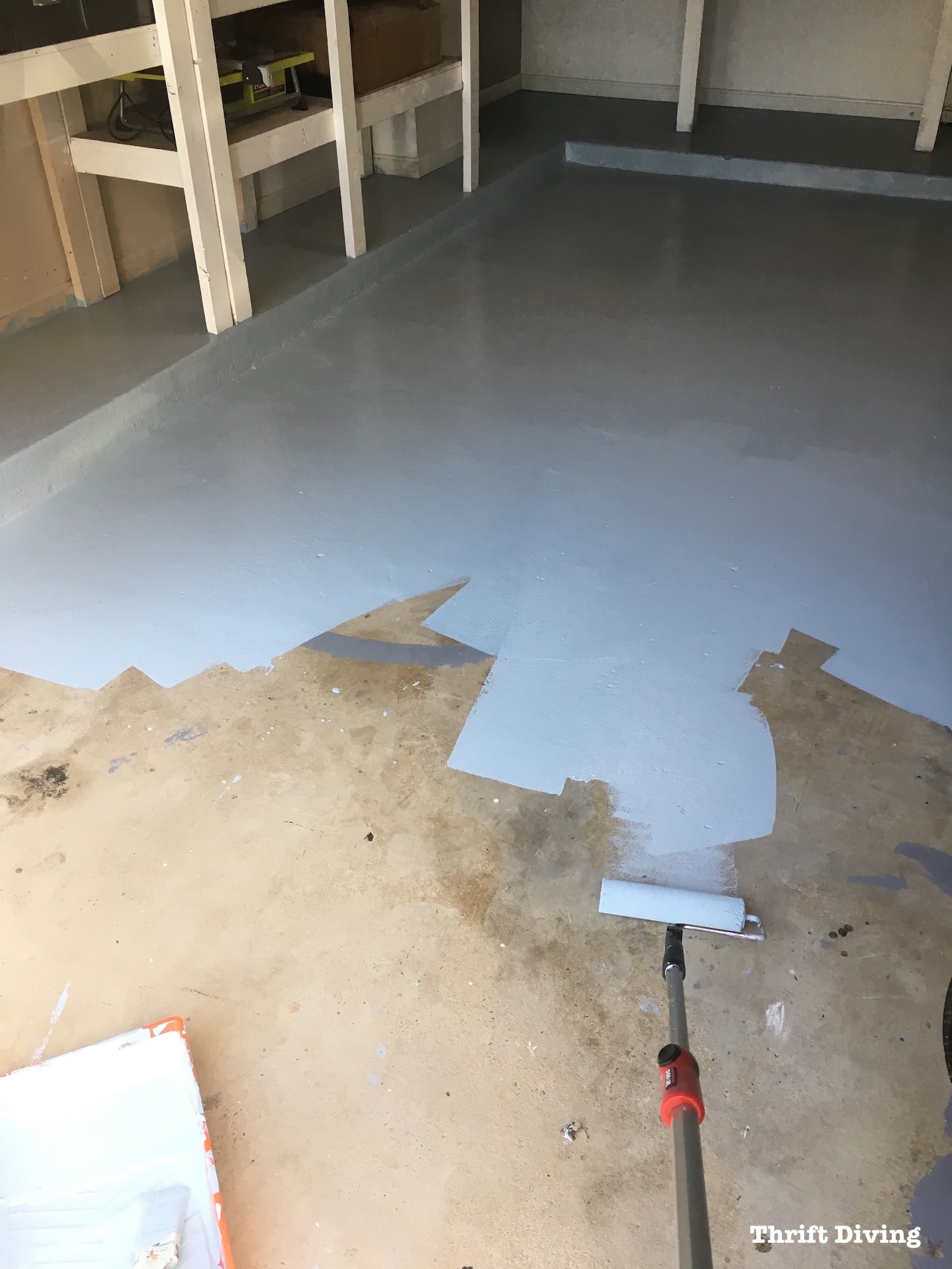 Garage Floor Epoxy Video How To Paint Garage Floors With 1 Part Epoxy Paint