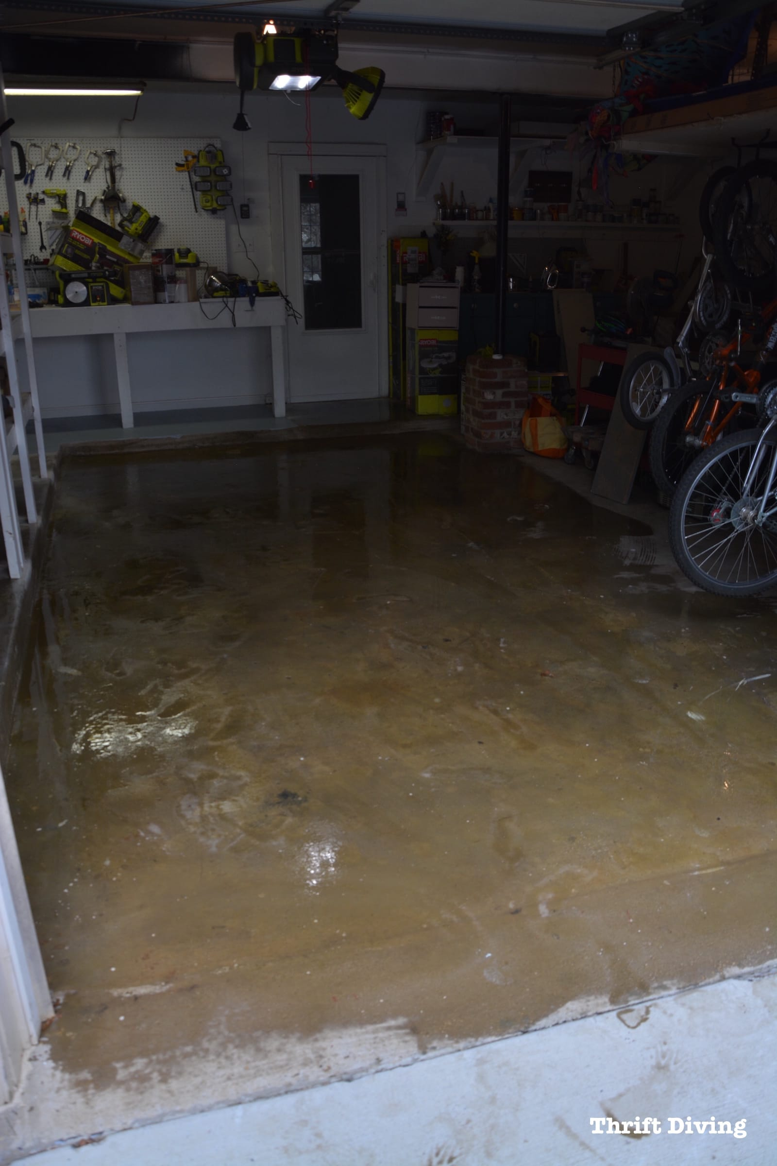 Garage Floor Paint In Basement How To Paint Garage Floors With 1 Part Epoxy Paint