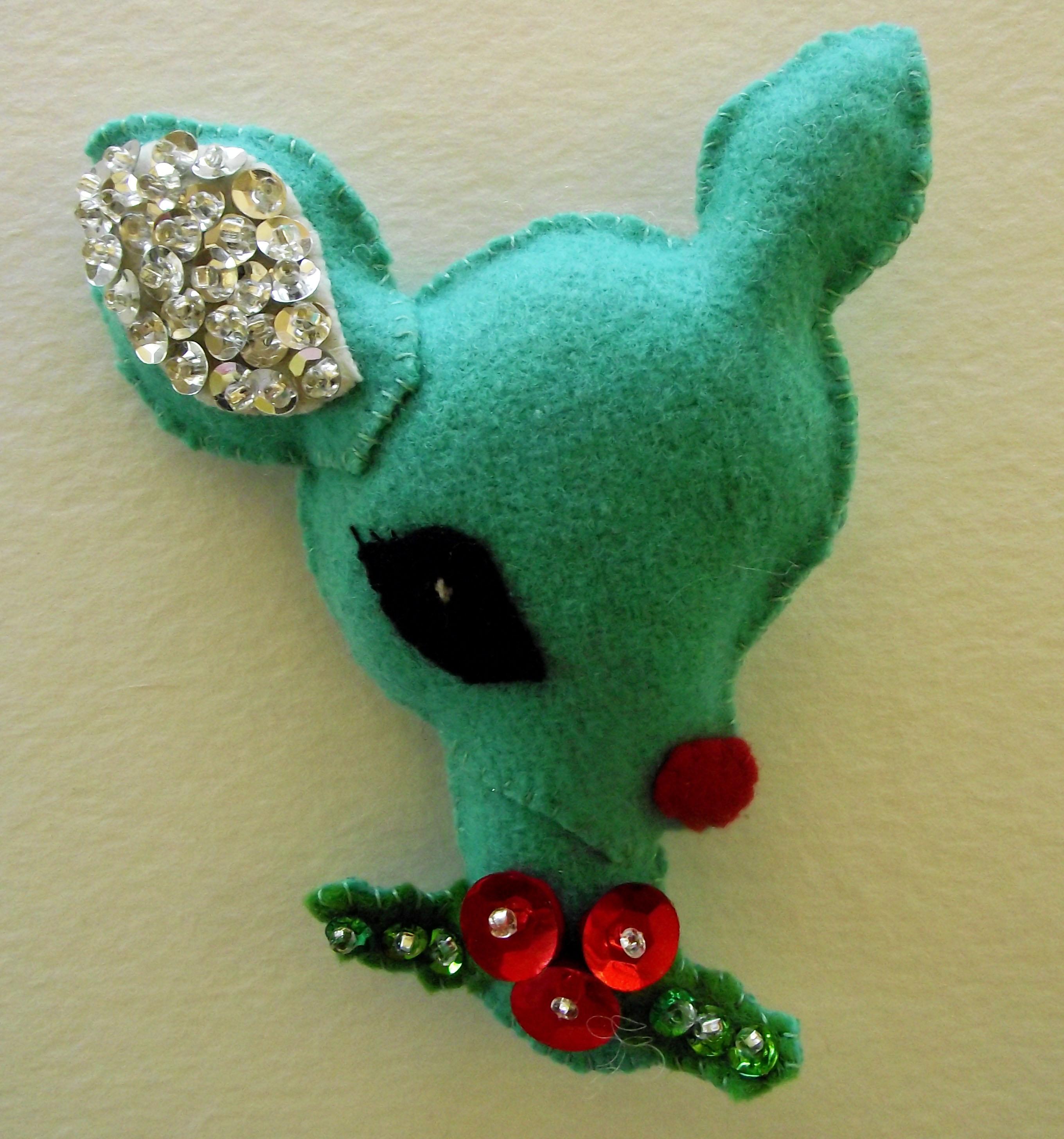 Sequin christmas ornaments reindeer ornament 1