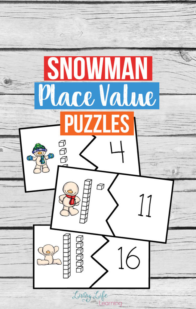 Free Snowman Place Value Puzzles - place value unit