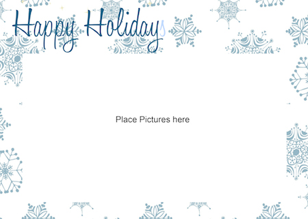 FREE Printable Photo Card Template - Just Print  Add Your Photo - free xmas card template