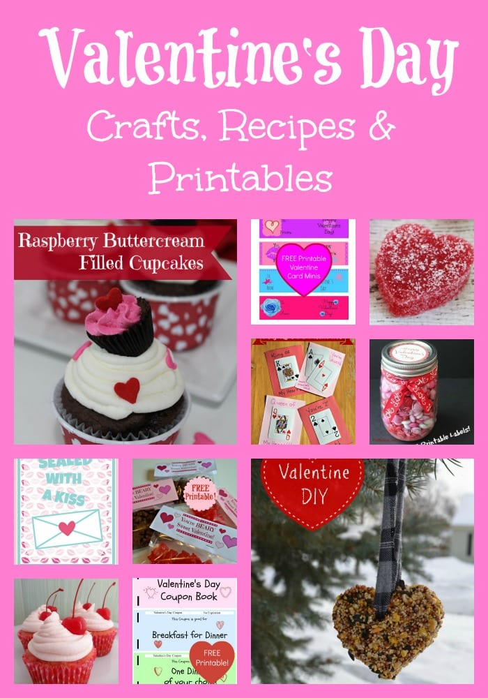 Valentine\u0027s Day Recipes, Crafts, Printables and MORE! - Thrifty Jinxy