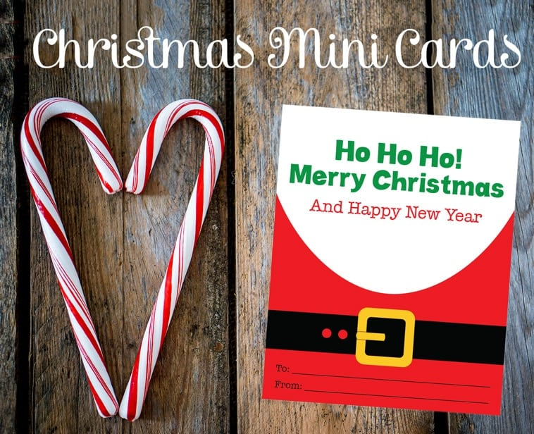 Free Printable Mini Santa Cards - Thrifty Jinxy
