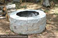 Easy DIY Inexpensive Firepit for Backyard Fun  Thrifty ...