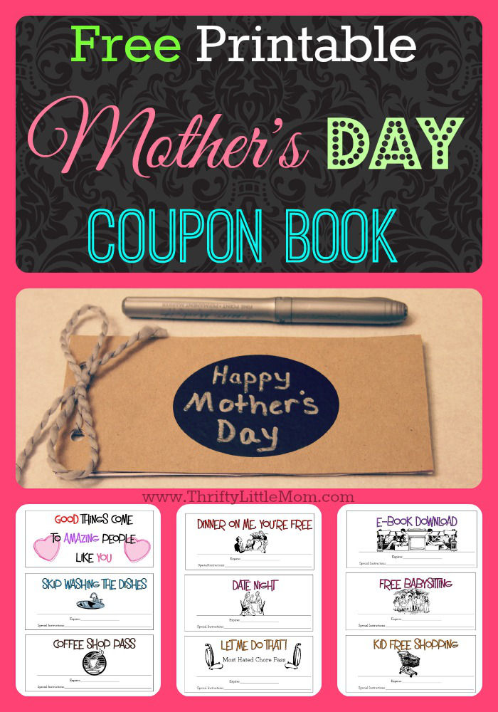 Free Printable Mother\u0027s Day Coupons » Thrifty Little Mom - babysitting pass