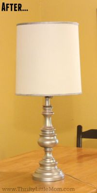 Update a Brass Lamp in 5 Simple Steps  Thrifty Little Mom