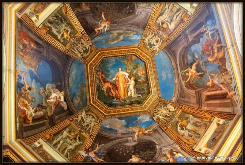 Frescos on the Ceiling of the Round Room, Vatican Museum