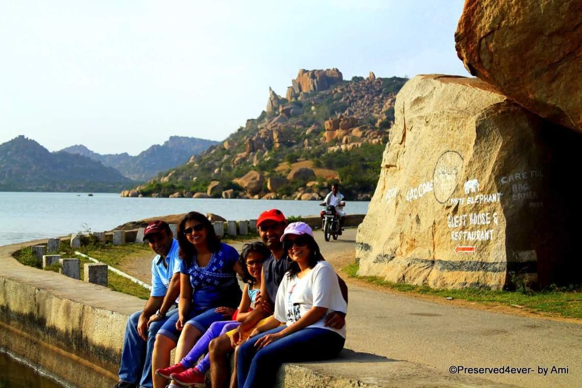 Along the bend of Sanapur lake