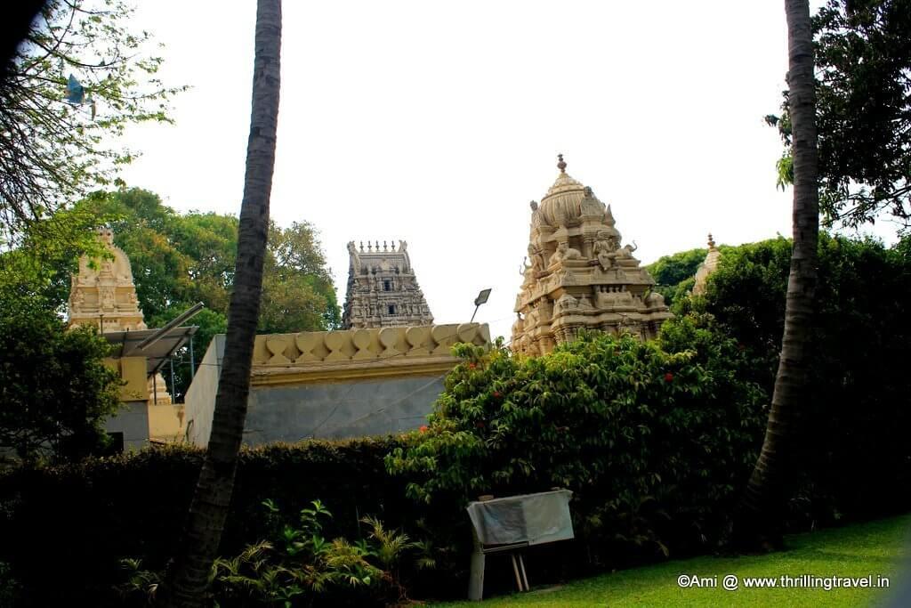 Venkateshwara temple, as seen from Tipu Sultan's palace, Bengaluru