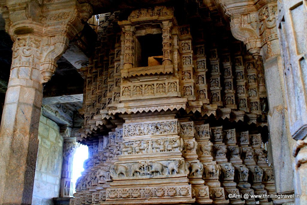 Inside the Ranakpur Jain Temple
