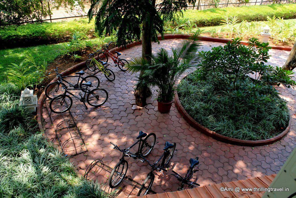 Bicycles at U Tropicana , Alibaug