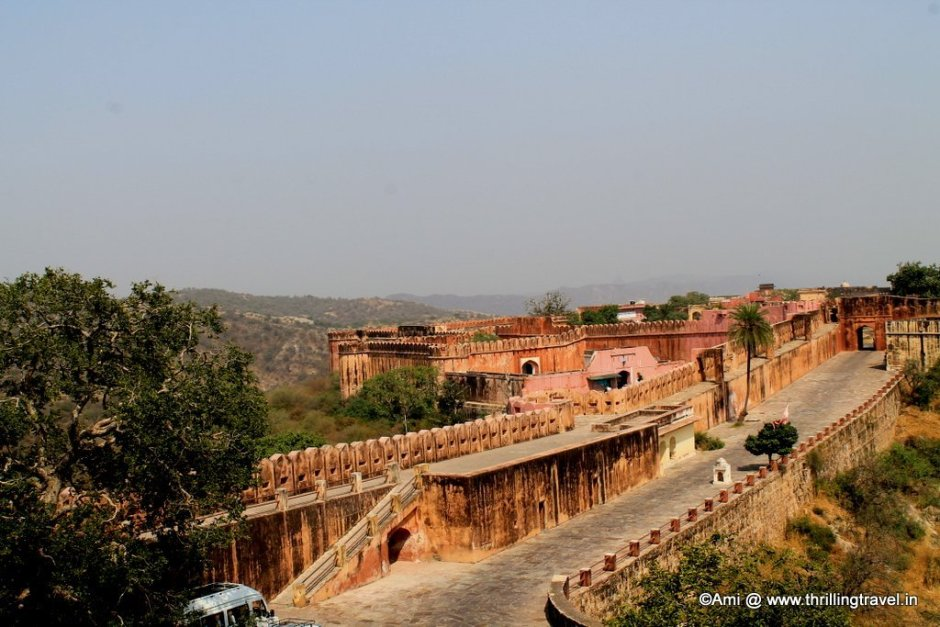 Red walls of Jaigarh Fort