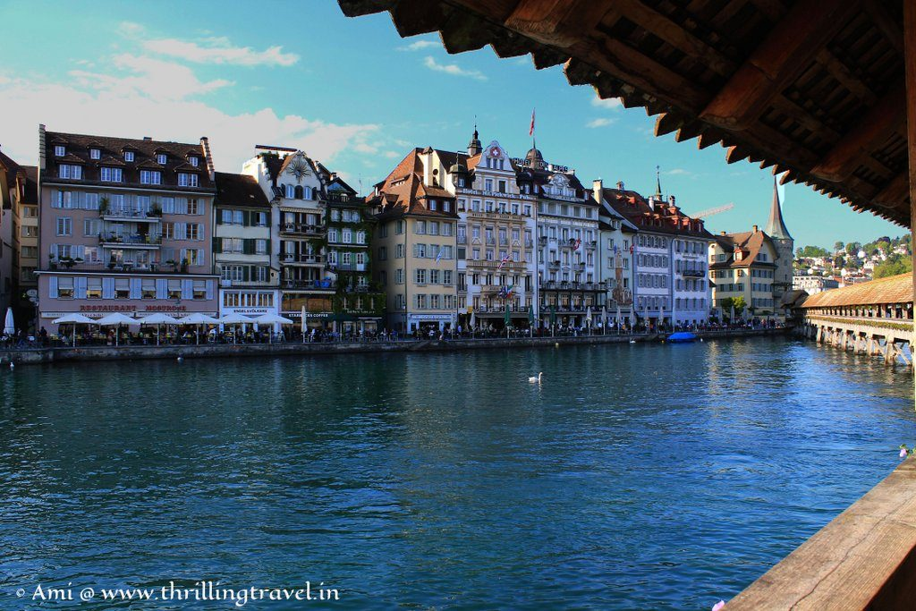 View from the Chapel Bridge in Lucerne