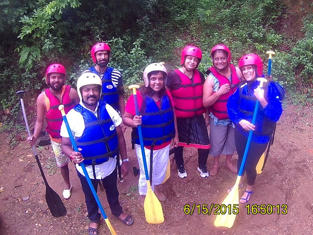 Ready for river rafting in Goa