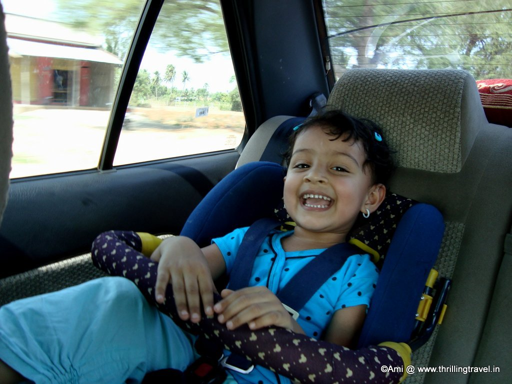 Traveling with kids - Car seat is a must for road trips