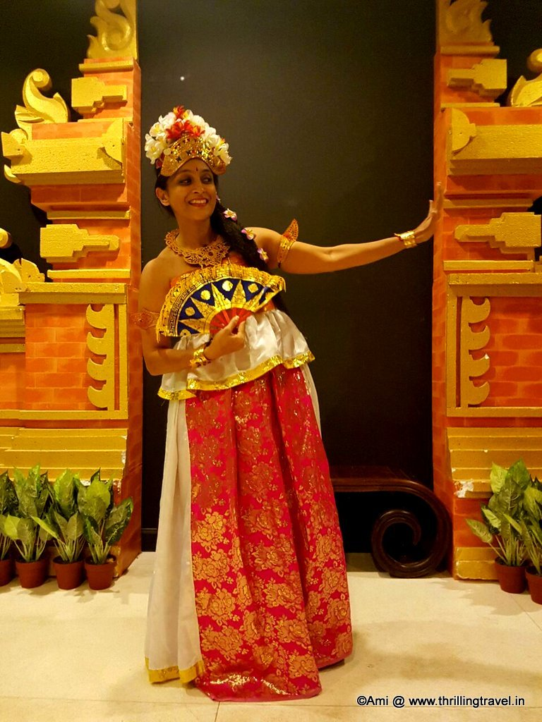 Me blending into the Balinese Culture. Picture courtesy : Rutavi Mehta