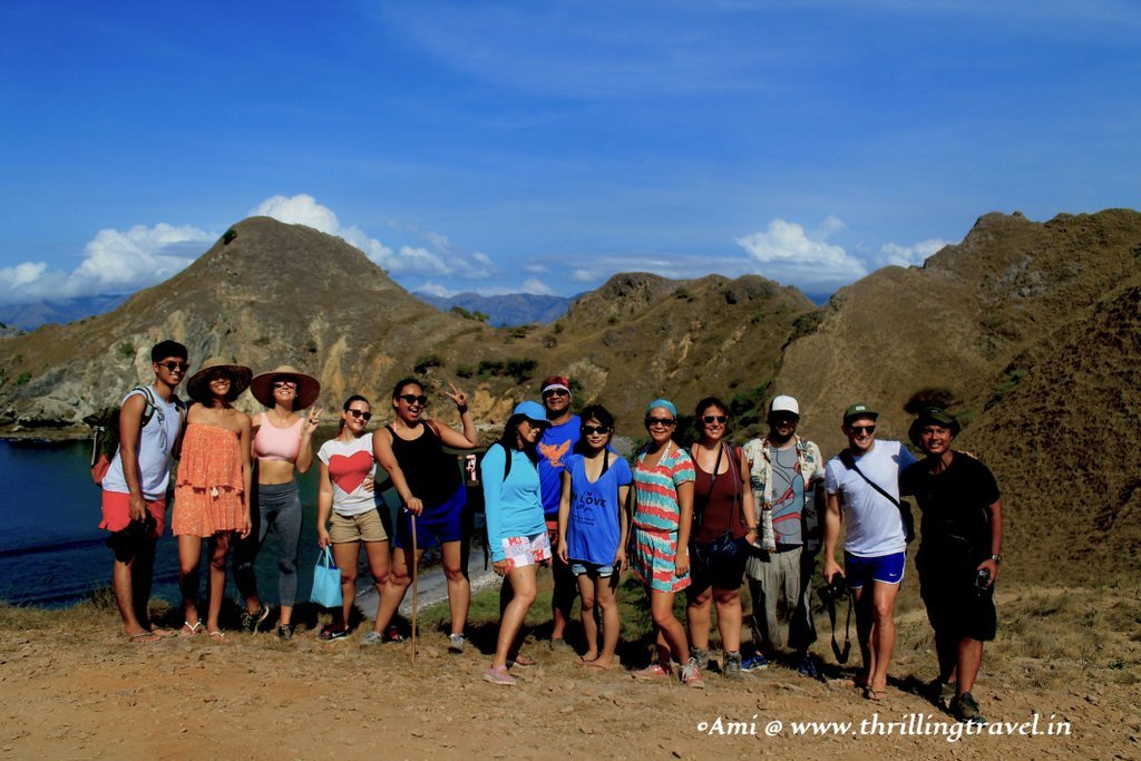 The Skyscanner and the Blogger team at Padar Island