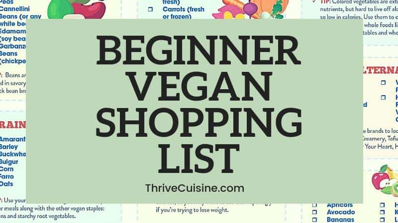 Vegan Grocery List for Beginners (Printable Option with Helpful Tips)