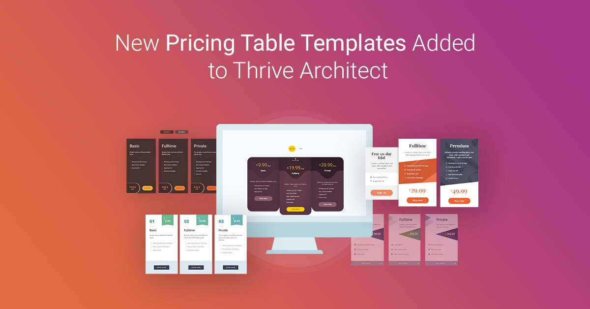 Quick Pricing Table Element Tips (+ New Templates)