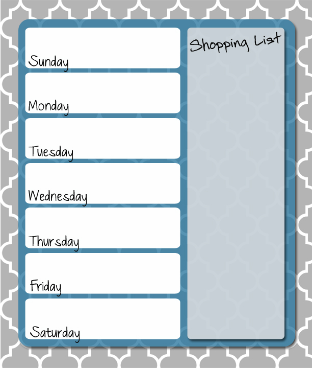 Free Printable Weekly Menu Planner Thriving Home - Printable Weekly Menu Planner With Grocery List