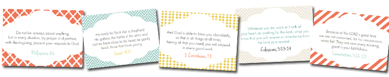 Bible Verse Cards for Moms Thriving Home