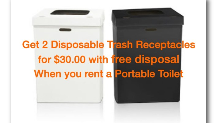 disposable trash can