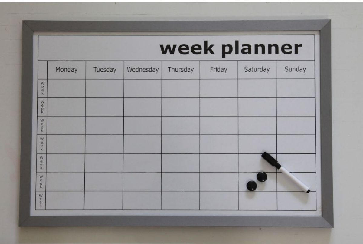 Whiteboard Magnetisch Whiteboard Weekplanner Woonexpress