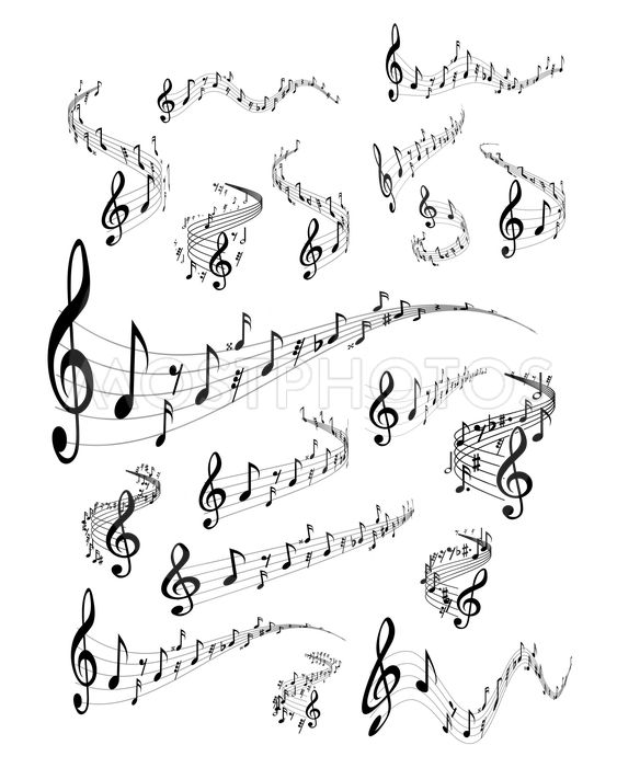 Musical staves\