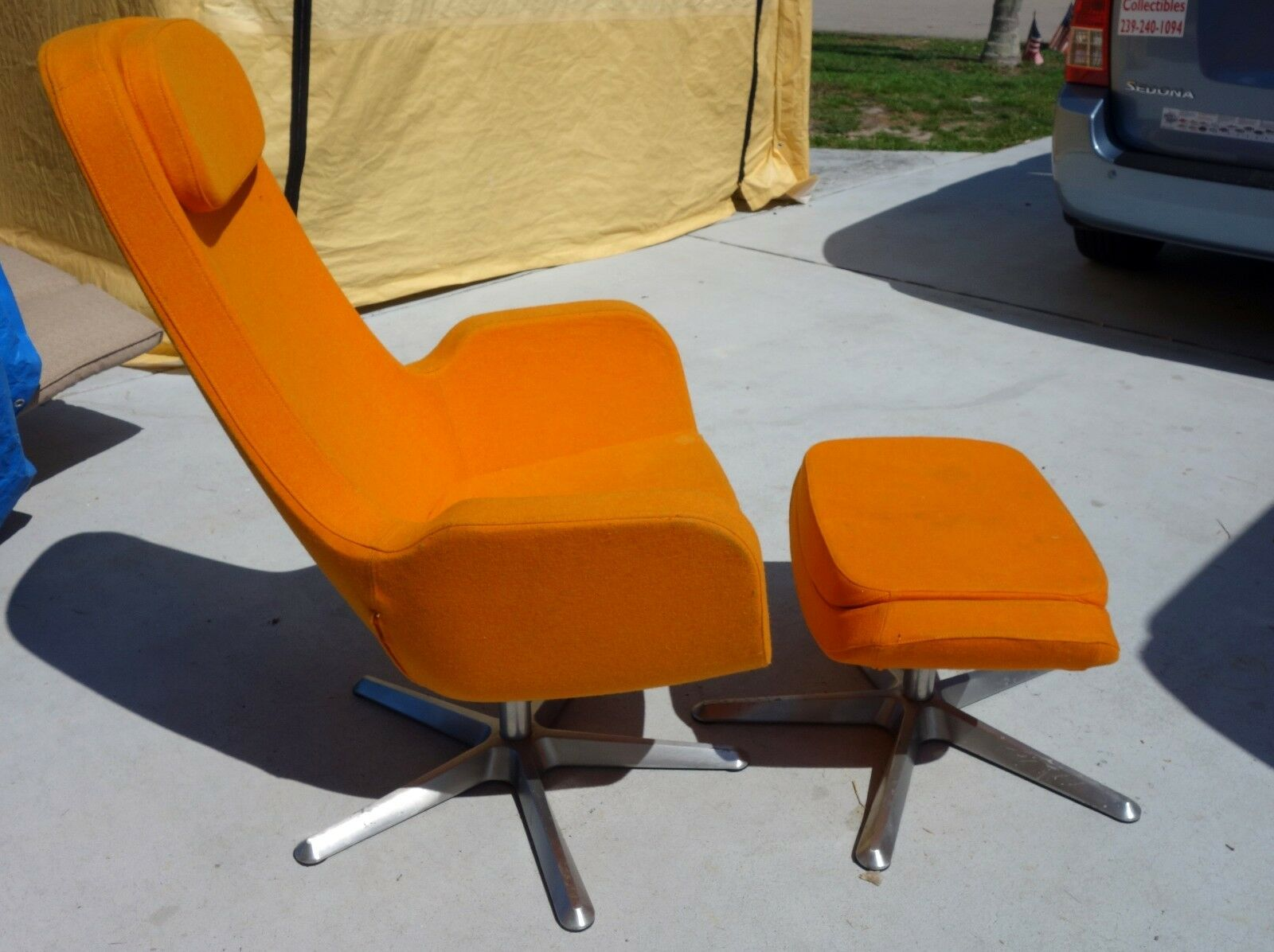 Orange Mid Century Modern Chair Mid Century Modern Lounge Chair And Ottoman Orange Mid