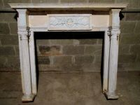 ANTIQUE FIREPLACE MANTEL ANGELS PUTTI 60 X 51 ...