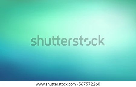 Abstract Blue Green Gradient Background Blurred Stock Vector