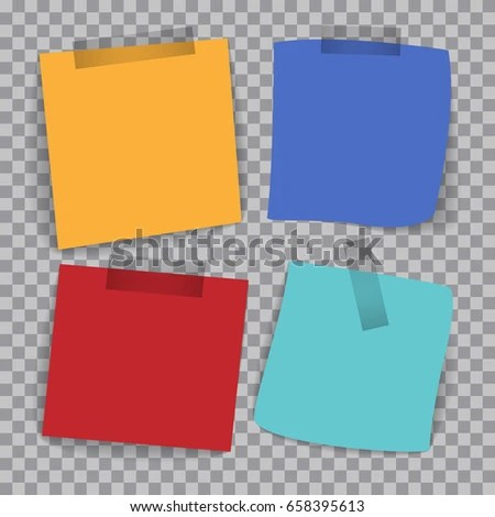 Four Different Colored Papers Writing On Stock Vector (Royalty Free - colored writing paper