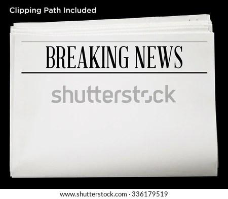 Newspaper Breaking News Headline Blank Content Stock Photo - newspaper headline template