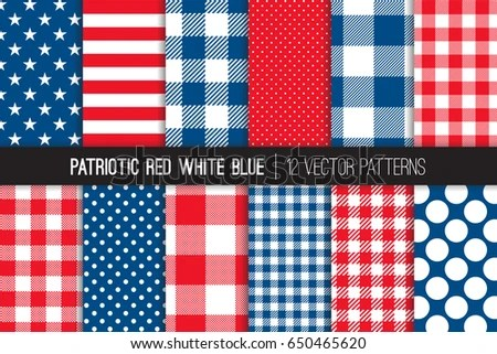 Patriotic Red White Blue Stars Stripes Stock Vector HD (Royalty Free