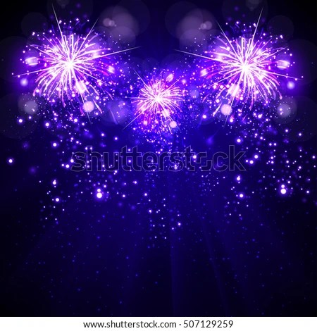Happy New Year Background Fireworks Stock Vector 507129259