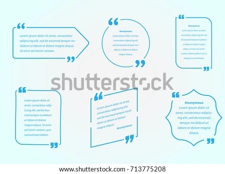 Quote Template Quotes Speech Bubble Vector Stock Vector 319412546 - how to create a quotation template