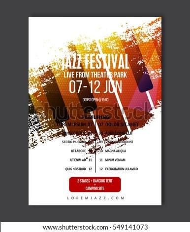 Music Poster Template Vector Jazz Music Stock Vector 549141073