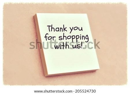 Text Thank You Shopping Us On Stock Photo (Safe to Use) 205524730