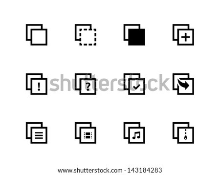 Copy Paste Icons Apps Presentations Web Stock Vector 143184283 - cool copy and paste art