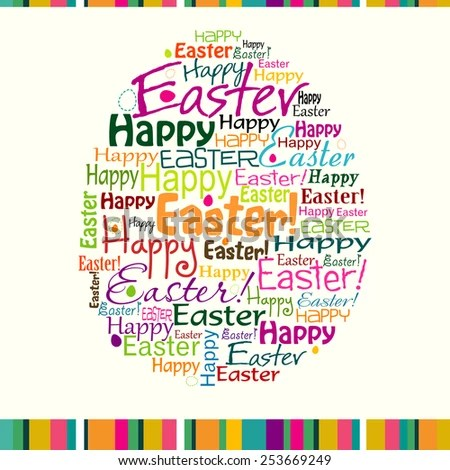 Template Easter Greeting Card Vector Illustration Stock Vector (2018