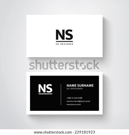 Vector Simple Business Card Template Clean Stock Photo (Photo - simple business
